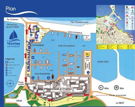 Marina Cap Monastir Aparthotel: Comment nous trouver ? suivez les fléches .