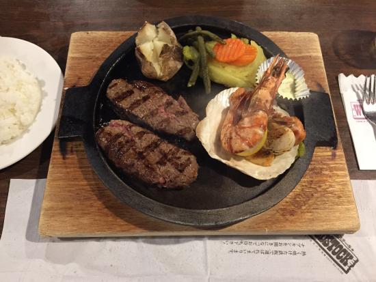 Uddosutokku: ハンバーグとえび