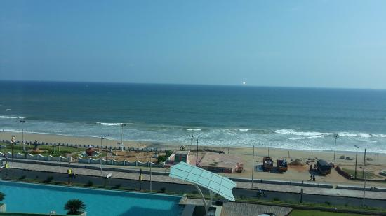 Night View Of Hotel Exterior From Rk Beach Picture Of Novotel Visakhapatnam Varun Beach