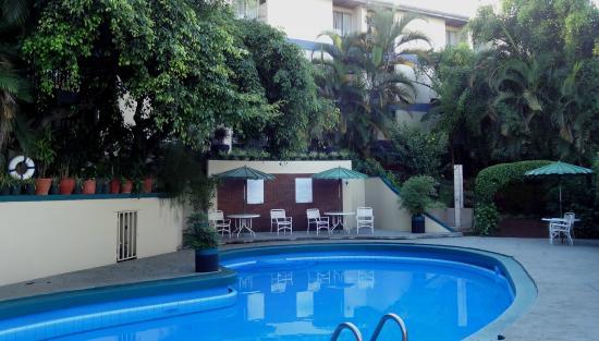 Hotel Villa Tournon: Pool in the back garden. Hummingbirds early am.