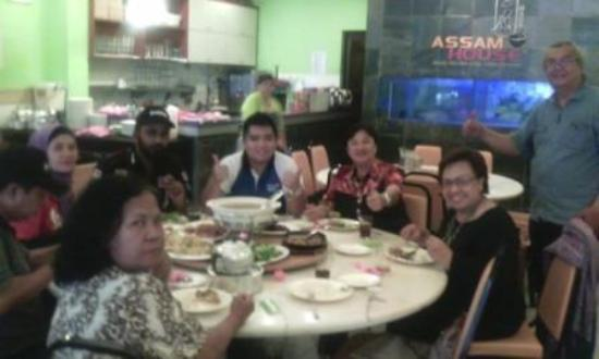 Restoran Assam House: Thanks ibu Khadijah