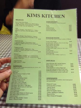 Great prices on this menu - Picture of Kim\'s Kitchen, Prestatyn ...