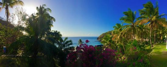 Cap Estate, St. Lucia: view from wellness centre (spa)