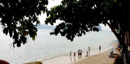 Ko Ngai, Thái Lan: Shady beach in front of the resort