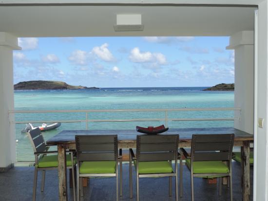 Hotel Les Ondines Sur La Plage: vue de la terrasse de la suite de 2 chambres vue mer