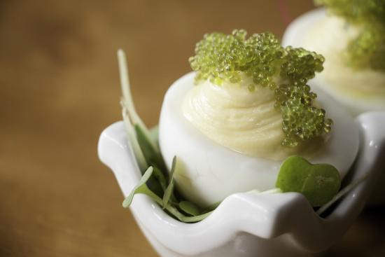 Pittsfield, MA: Deviled Eggs with Tobiko
