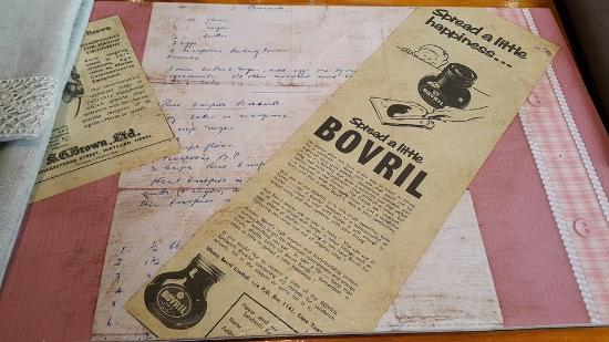 Nourish: Breakfast placemat - and I love Bovril!