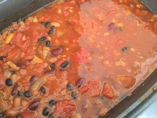 Scottsville, VA: 3 bean chili with local sausage