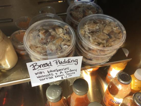 Scottsville, VA: Popular one: bread pudding!