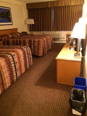 Fort Nelson, British Columbia Canada - Woodlands Inn & Suites room 129 faces parking lot and str