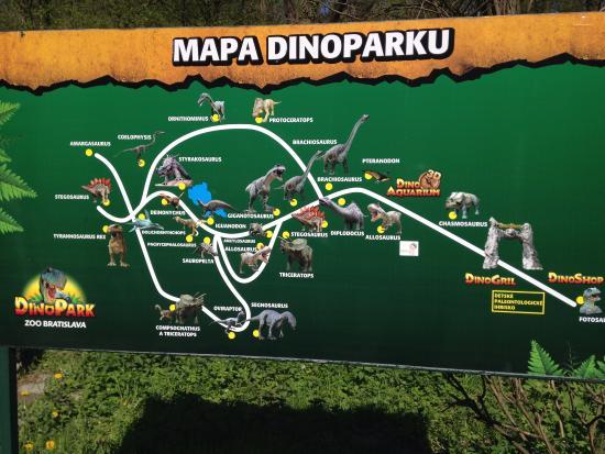 Map Picture of DinoPark Bratislava Bratislava TripAdvisor