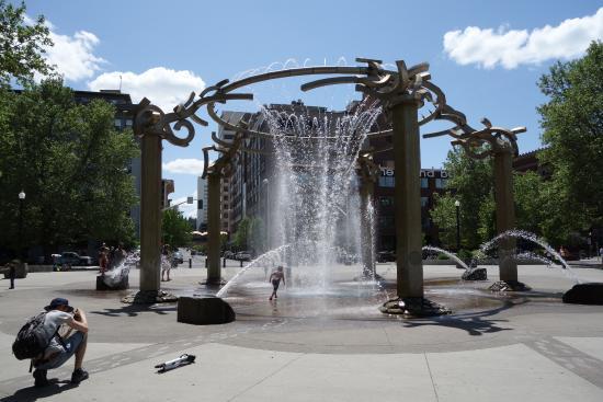 Centennial Trail: Rotary fountain