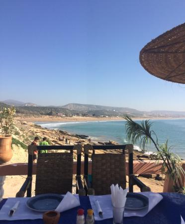 Panorama: Best view on the beach, food seemed not very fresh but tasted ok, service good