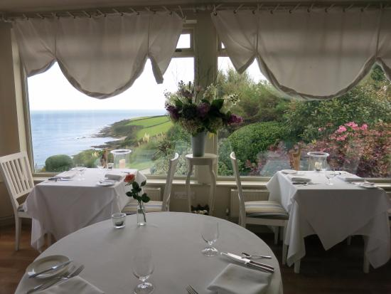 Trewithian, UK: Seascape viewed from dining room