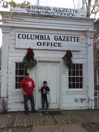 Outside of the Columbia Gazette