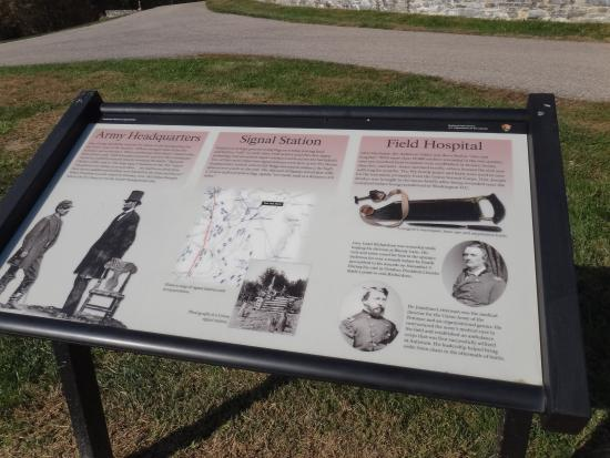 Sharpsburg, MD: Historic marker for Pry House
