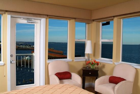 Cannery Pier Hotel: Pilot House Bedroom View BFor Web