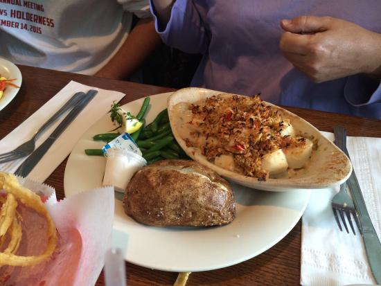 Mattapoisett, MA: stuffed scallops