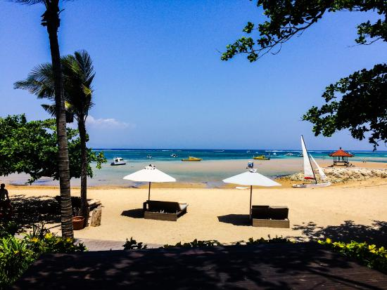 Beach In Front Of The Hotel Picture Of Fairmont Sanur Beach Bali Tripadvisor