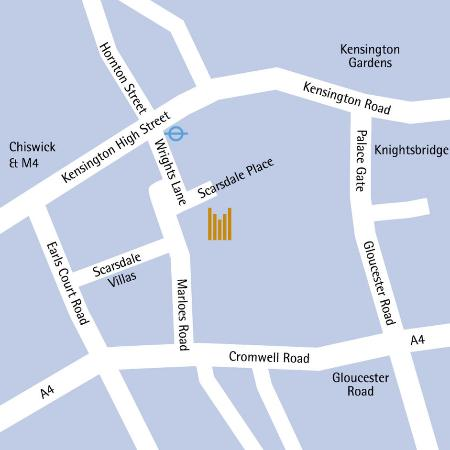 Copthorne Tara Hotel London Kensington: Map