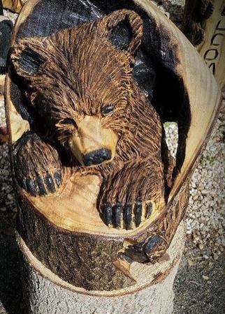 Wood bear carvings review of jake and angies wood art gatlinburg