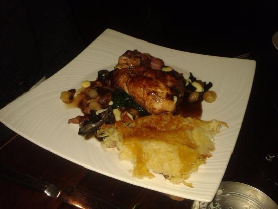The Beetle & Wedge Boathouse: Partridge main course with rosti