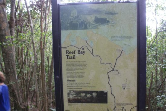 map  Picture of Reef Bay Trail Virgin Islands National Park