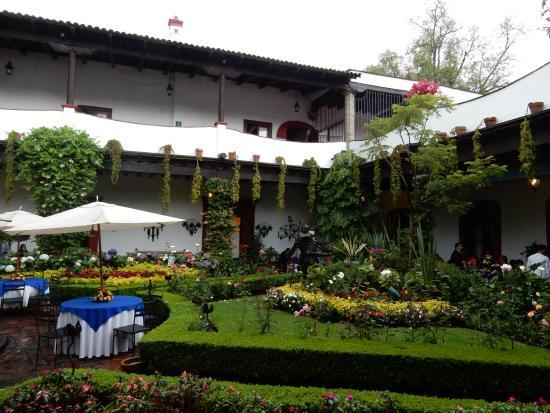 Jardin terraza picture of restaurante antiguo san angel for Restaurante jardin