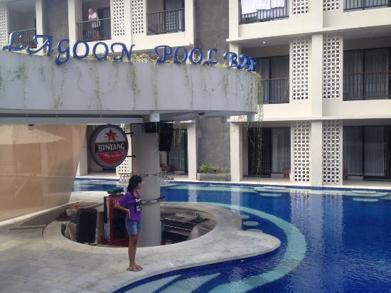 lagoon pool view picture of grand barong resort kuta. Black Bedroom Furniture Sets. Home Design Ideas
