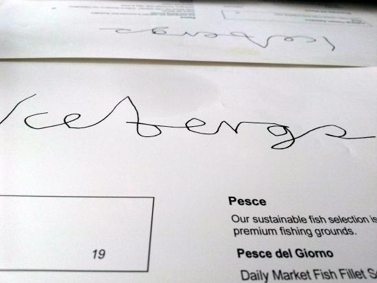 Icebergs Dining Room Bar Logo On Menu