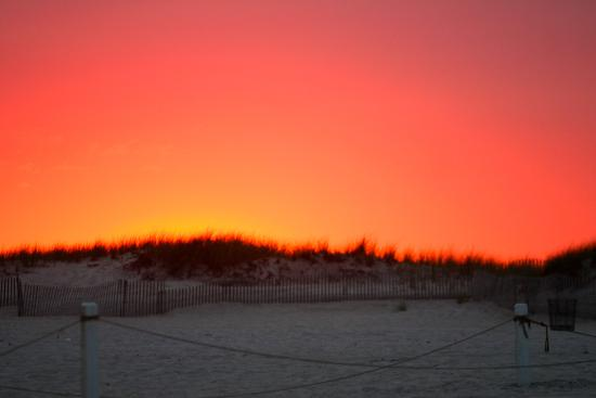 Fire Island, นิวยอร์ก: Sunset at Robert Moses