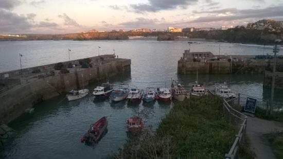 View at sunset from the balcony picture of harbour fish for Fish and grill