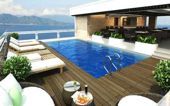 Rooftop pool balcony nha trang hotel picture of balcony - Hotel with swimming pool on every balcony ...