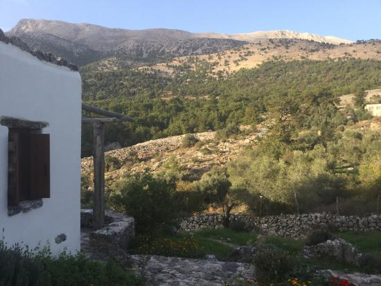 Guesthouse Alonia: View from our terrace towards the mountains