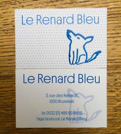Le Renard Bleu Nouvelle Carte De Visite