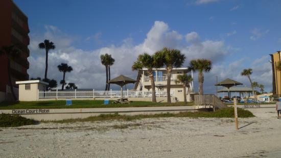 Ocean Court Motel View From Beach