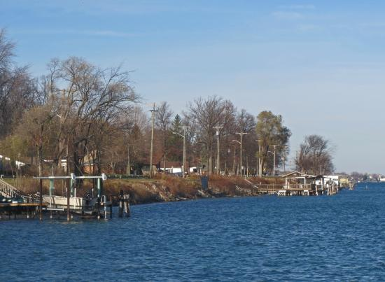 Marysville, Μίσιγκαν: St Clair River Shoreline
