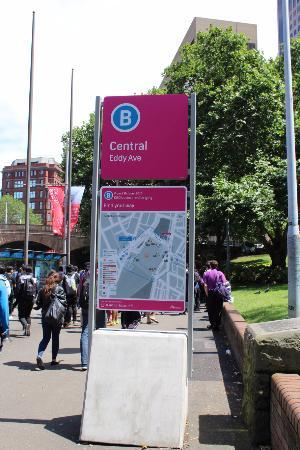 Central Railway Station: Papan penunjuk central area