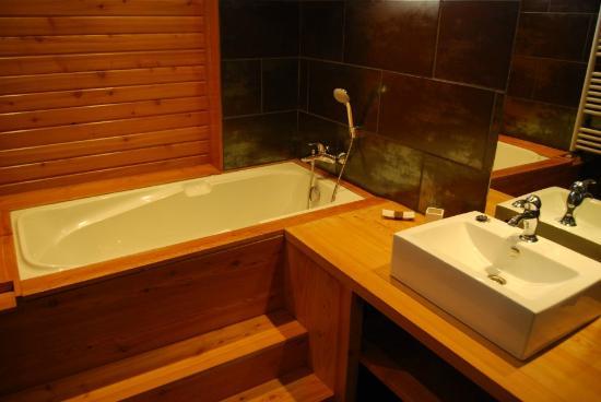Leran, Fransa: Salle de bain de la suite la Castel