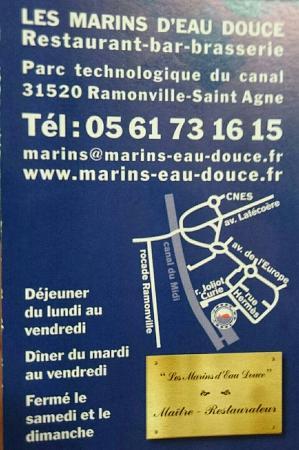 Les Marins DEau Douce Carte De Visite