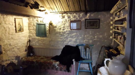 Dunquin, أيرلندا: Reconstitution d'un intérieur