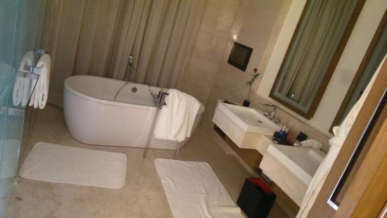 The Oberoi, Gurgaon: Faccio presente che la tazza era in una stanzetta dello stesso bagno con anche un telefono vicin