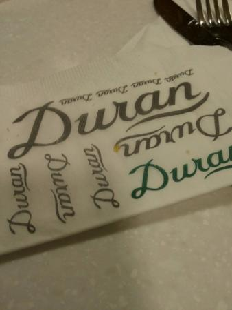 Duran Sandwiches: שם הרשת
