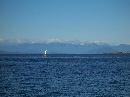 Nanaimo, Canada: Views across the straight of Georgia