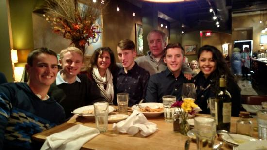 Prima Italian Restaurant: Family and friends enjoying a great meal