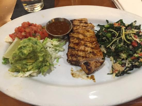 Chelsea\'s Kitchen Airport Grilled Sworfish Taco Platter with Kale ...
