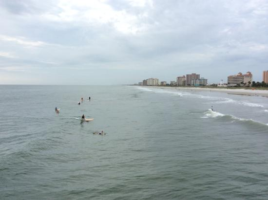 Surfers sup jacksonville beach fl picture of for Beach fishing florida