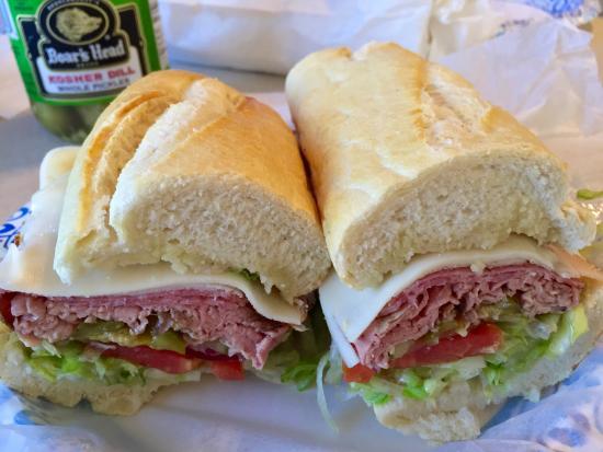 Marathon Liquors and Deli: Roast Beef, Salami and Turkey w Cheese sub
