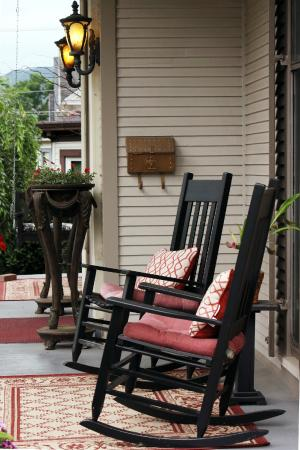 Bellefonte, PA: having a cup of coffee in the morning an rocking on the front porch is the perfect way to start