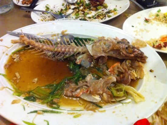 Fish all gone only bones left picture of hingston for Fish bones restaurant